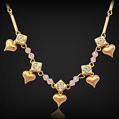 abordables Collares-Collares de cadena Collar Collares Declaración Strands Collares Cobre Brillante Chapado en Oro Collares de cadena Collar Collares