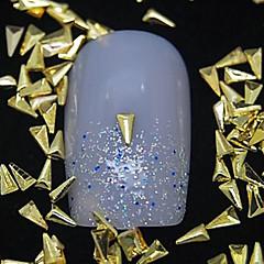 100 buc triunghi de metal de aur decorare nit Nail Art
