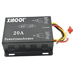 cheap Power Inverter-Xincol® Vehicle Car DC 24V to 12V 20A Power Supply Transformer Converter-Black