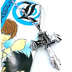 Mücevher Esinlenen Death Note Cosplay Anime Cosplay Aksesuarları Kolyeler Gümüş Alaşım Erkek