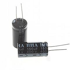 abordables Condensadores Eléctricos-condensador electrolítico 150UF 400v (2pcs)