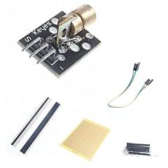 お買い得  センサー-arduinoのためのDIYの650nmのレーザセンサモジュールおよび付属