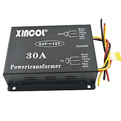 cheap Power Inverter-Xincol® Vehicle Car DC 24V to 12V 30A Power Supply Transformer Converter with Fan Regulation-Black