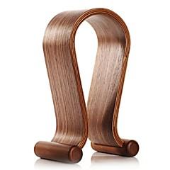 Samdi creativo marco de madera auricular auriculares auriculares estante de exhibición de madera del soporte en forma de U
