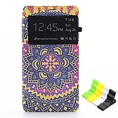 blomst mønster pu læder hele kroppen tilfældet og telefon holder til Sony Xperia Z3 kompakt / z3 mini
