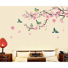 persikankukka linnut seinä tarroja
