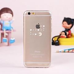 Для Кейс для iPhone 6 / Кейс для iPhone 6 Plus Прозрачный Кейс для Задняя крышка Кейс для Композиция с логотипом Apple Мягкий TPUiPhone