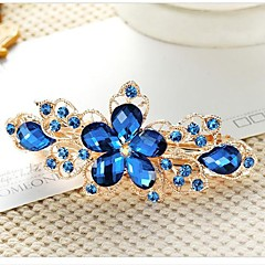 cheap Hair Jewelry-Women's Elegant Rhinestone Alloy Hair Clip Flower