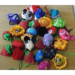 フルーツの花のモデリング動物折りたたみショッピングバッグ