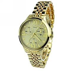 preiswerte Damenuhren-Damen Armbanduhr Quartz Schlussverkauf Legierung Band Analog Charme Freizeit Gold - Blau Rosa Golden