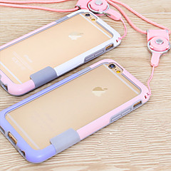 voordelige iPhone 6s Plus hoesjes-Voor iPhone 6 iPhone 6 Plus Hoesje cover Other Bumper hoesje Effen Kleur Zacht TPU voor iPhone 6s Plus iPhone 6 Plus iPhone 6s Iphone 6