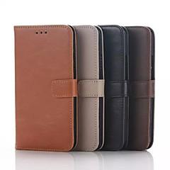 Недорогие Чехлы и кейсы для Motorola-Для Кейс для Motorola Кошелек / Бумажник для карт / со стендом / Флип Кейс для Чехол Кейс для Один цвет Твердый Искусственная кожа