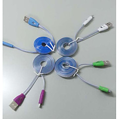 cheap -100CM Smile Face USB Charging Data Sync/Breathing LED Light Emitting Cable For Samsung and Other Android Phones