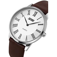 Χαμηλού Κόστους Προσφορές σε ρολόγια-SKMEI Ανδρικά Ρολόι Φορέματος Χαλαζίας Γιαπωνέζικο Quartz Ανθεκτικό στο Νερό Δέρμα Μπάντα Φυλαχτό Μαύρο Καφέ