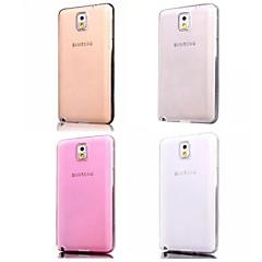 Недорогие Чехлы и кейсы для Galaxy Note 3-Кейс для Назначение SSamsung Galaxy Samsung Galaxy Note Other Кейс на заднюю панель Сплошной цвет ТПУ для Note 3