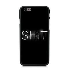 Недорогие Кейсы для iPhone 7 Plus-Кейс для Назначение Apple iPhone 8 / iPhone 8 Plus / iPhone 7 С узором Кейс на заднюю панель Слова / выражения Твердый ПК для iPhone 8 Pluss / iPhone 8 / iPhone 7 Plus