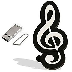 cartoon muzikale noot model 4GB USB 2.0 flash pen drive geheugenstick pendrive