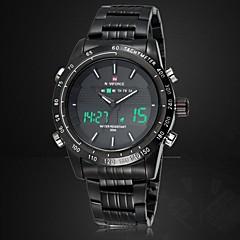 NAVIFORCE Męskie Sportowy Zegarek na nadgarstek Zegarek cyfrowy Kwarcowy Cyfrowe Kwarc japoński LED Kalendarz Chronograf Wodoszczelny