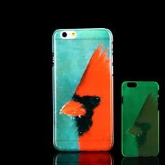 Resplandor del modelo del pájaro en el estuche rígido oscuro para el iPhone 6 casos del iphone