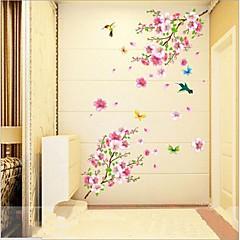 애니멀 보태니컬 로맨스 정물화 패션 벽 스티커 플레인 월스티커 데코레이티브 월 스티커,비닐 자료 이동가능 홈 장식 벽 데칼