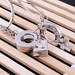 aimer pour toujours mariage clé trousseau anneau pour le jour de valentine amant (une paire)