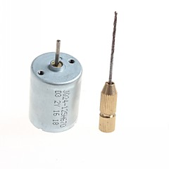 abordables Clavijas y Enchufes Eléctricos-taladro micro del motor hecho en casa diy de alta calidad - (color plata) 1pc