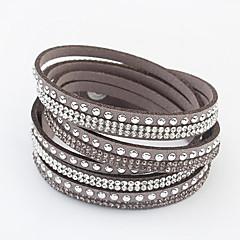 abordables Bijoux pour Femme-Femme Long Bracelets - Strass Européen, Mode Bracelet Rouge / Vert / Bleu Pour Quotidien