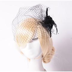 Women's Tulle Net Headpiece-Wedding Special Occasion Outdoor Fascinators Flowers Birdcage Veils 1 Piece