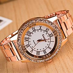 tanie Zegarki damskie-yoonheel Damskie Kwarcowy Sztuczny Diamant Zegarek sztuczna Diament Metal Pasmo Elegancki Modny Srebro Złoty Różowe złoto
