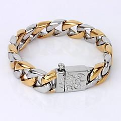 Men's Chain Bracelet Bracelet Unique Design Vintage Party Work Casual Link/Chain Fashion Simple Style Gold Plated Others Others Jewelry