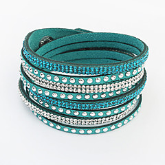 preiswerte Armbänder-Damen Lang Wickelarmbänder - Strass Europäisch, Modisch Armbänder Rot / Grün / Blau Für Alltag