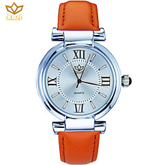preiswerte Damenuhren-Damen Modeuhr Armbanduhr Quartz Armbanduhren für den Alltag PU Band Blume Schwarz / Weiß / Blau - Rot Blau Rosa