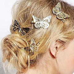 Európai stílusú divat ékszerek szép finom pillangó hajtű menyasszony fejdísze (single)
