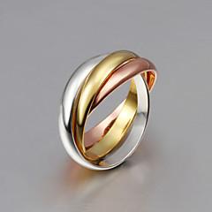 Женский Классические кольца Кисточки Кроссовер Мода бижутерия Стерлинговое серебро Позолота Позолоченное розовым золотом Бижутерия