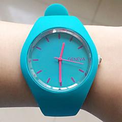 Women's Fashion Watch Wrist watch Dress Watch Casual Watch Quartz Silicone Band Black White Blue Red Orange Brown Green Pink Purple