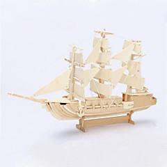رخيصةأون -ديي السفينة الشراعية على شكل لغز خشبي 3D