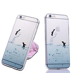Недорогие Кейсы для iPhone 7 Plus-iphone 7 плюс мило прозрачная задняя крышка случая животное для iphone 5 / 5s
