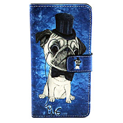 Voor Samsung Galaxy hoesje Hoesje cover Kaarthouder met standaard Flip Patroon Magnetisch Volledige behuizing hoesje Hond PU-leer voor