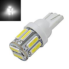 billige LED-lyspærer-210 lm T10 Dekorationslampe 10 leds SMD 7020 Kold hvid DC 12V
