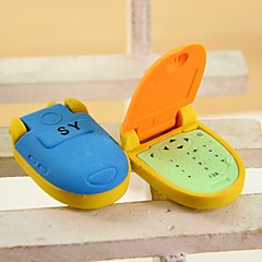 Cute Flip Phone Shaped Multi Color Erasers (Random Delivery)