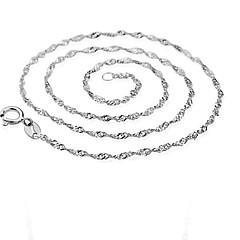 Муж. Женский Ожерелья-цепочки Стерлинговое серебро Позолота Мода бижутерия Бижутерия Назначение Для вечеринок Повседневные