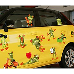 Wacky Big Eye Frog Car Sticker