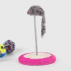 お買い得  犬用おもちゃ-猫用品 おもちゃ インタラクティブ / マウスおもちゃ 弾性ある シザル麻 グレー