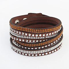 preiswerte Armbänder-Damen Lang Wickelarmbänder - Strass damas, Europäisch, Modisch Armbänder Schmuck Rot / Grün / Blau Für Alltag