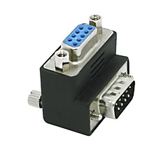RS232 DB9 9pin mandlige og kvindelige adapter 90 graders konverter adapter