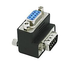 voordelige USB-RS232 DB9 9pin man naar vrouw adapter 90 graden converter adapter