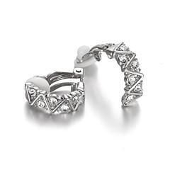 preiswerte Ohrringe-Damen Kristall Klips - Kubikzirkonia damas Schmuck Silber / Rotgold Für Hochzeit Maskerade Verlobungsfeier Abiball