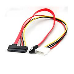 お買い得  ケーブル、アダプター-4ピンIDEモレックスの22ピンSATA電源データ& SATAポートコネクタケーブル
