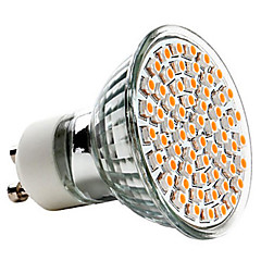 3w gu10 led spotlight mr16 60 smd 3528 240lm warm wit 2700k ac 220-240v 1pc