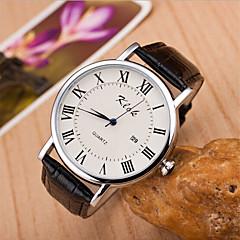 preiswerte Tolle Angebote auf Uhren-Damen Armbanduhr Quartz Schlussverkauf Leder Band Analog Charme Modisch Schwarz / Braun - Schwarz Braun